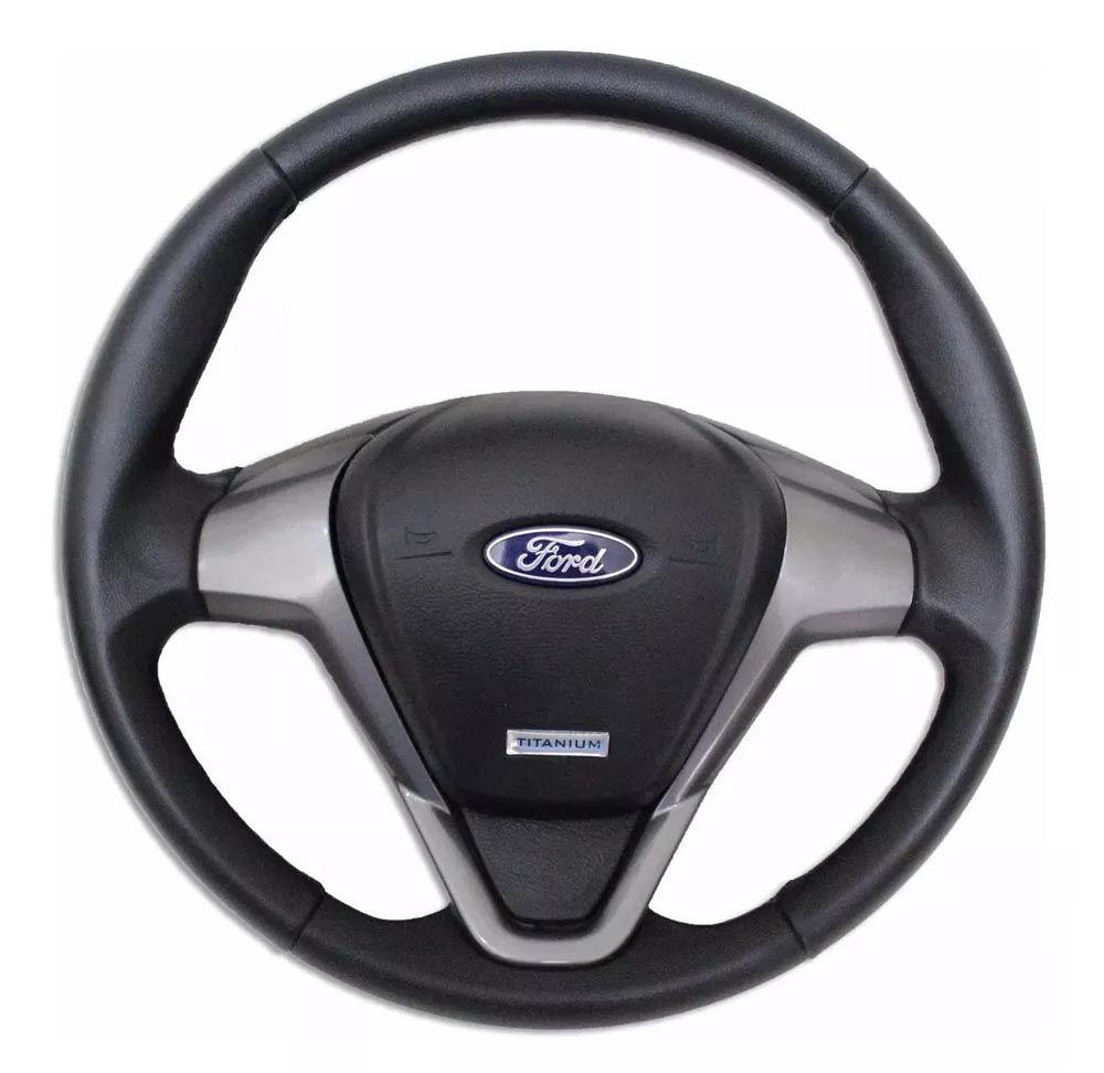 Volante Esportivo Titanium Escort Zetec Fiesta Ka Ecosport Courier Ford com Tampa Acionador de Buzina