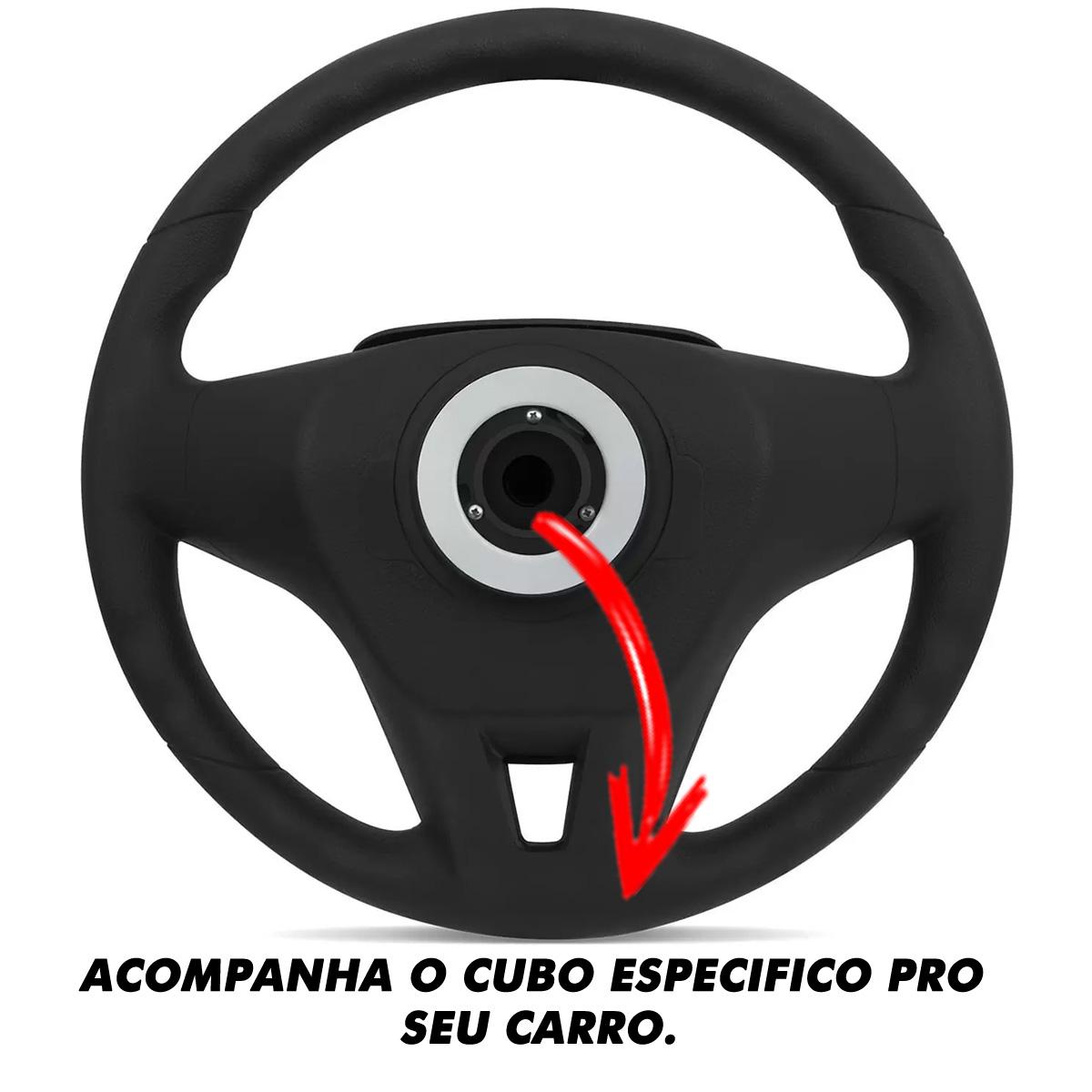 Volante Fiat Cruze Esportivo Cubo Palio Uno 1983 a 2013 Siena Strada Stilo Punto Idea Poliparts
