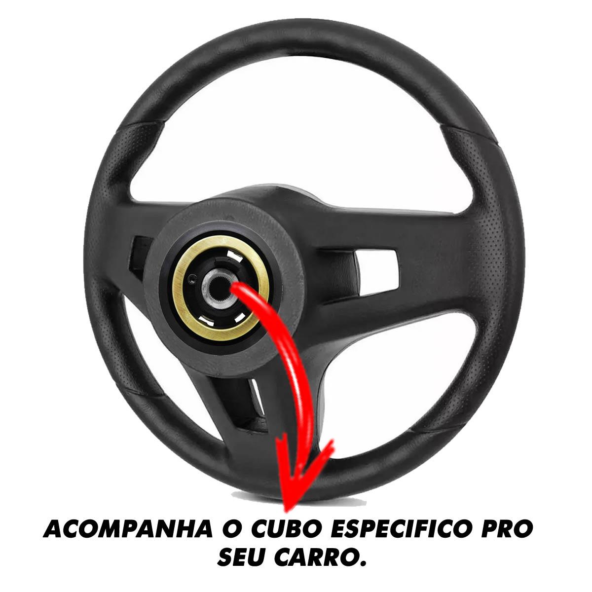 Volante Fiat Mustang Esportivo Cubo Atacado Poliparts