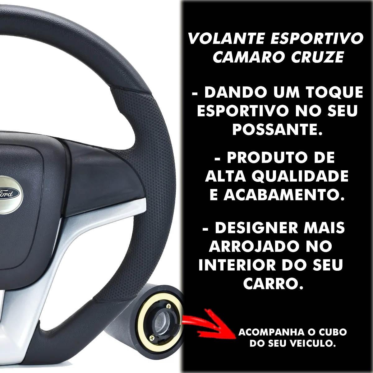 Volante Ford Camaro Esportivo Cubo Atacado Poliparts