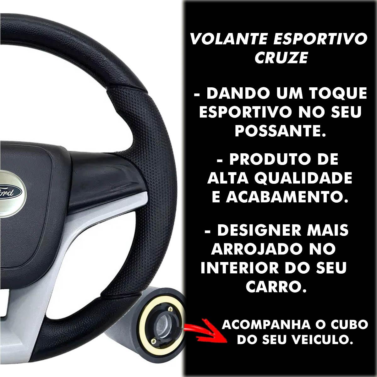 Volante Ford Cruze Esportivo Cubo Atacado Poliparts