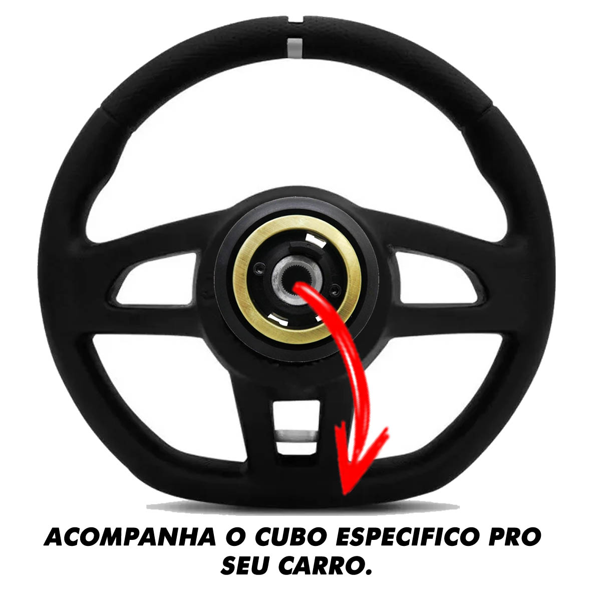 Volante Ford Gti Esportivo Cubo Atacado Poliparts