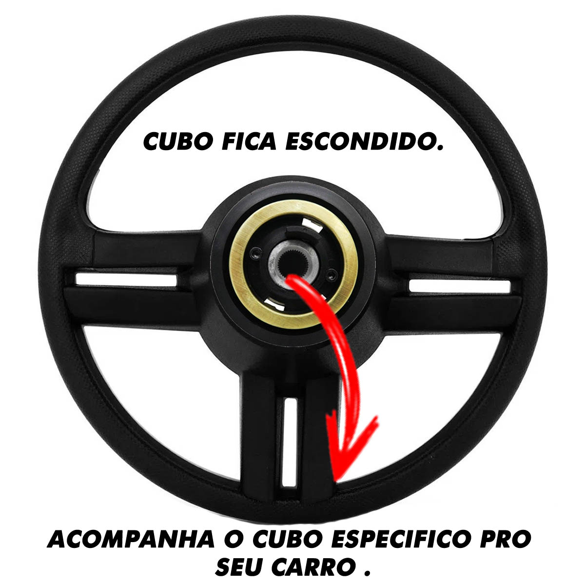 Volante Ford Surf Rallye Esportivo Cubo Fiesta Ka Ecosport Escort Hobby Zetec F100 F1000 F75 F250 Poliparts