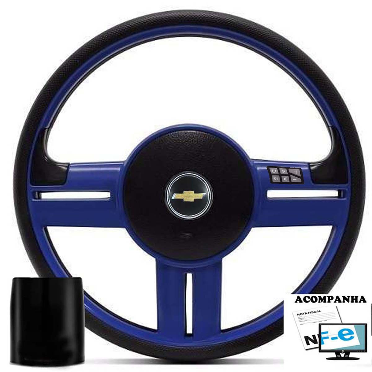 Volante Multifuncional Chevrolet Surf Rallye Esportivo Cubo Corsa Classic Wind Premium Joy Max Celta Poliparts
