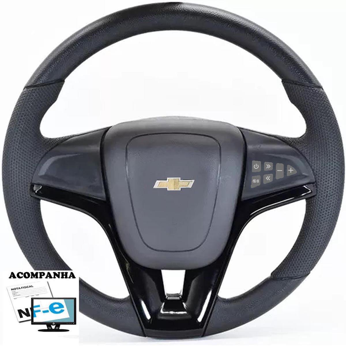 Volante Multifuncional Cruze Corsa Celta Astra Monza Chevette S10 Blazer Silverado Meriva Zafira Omega Kadett Opala Chevrolet + Cubo Gm