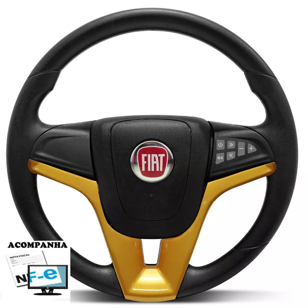 Volante Multifuncional Cruze Palio Strada Uno Mille Smart Way Vivace Elba Premio Tempra Fiorino Stilo Punto Marea Fiat 147 Tampa Acionador de Buzina + Cubo