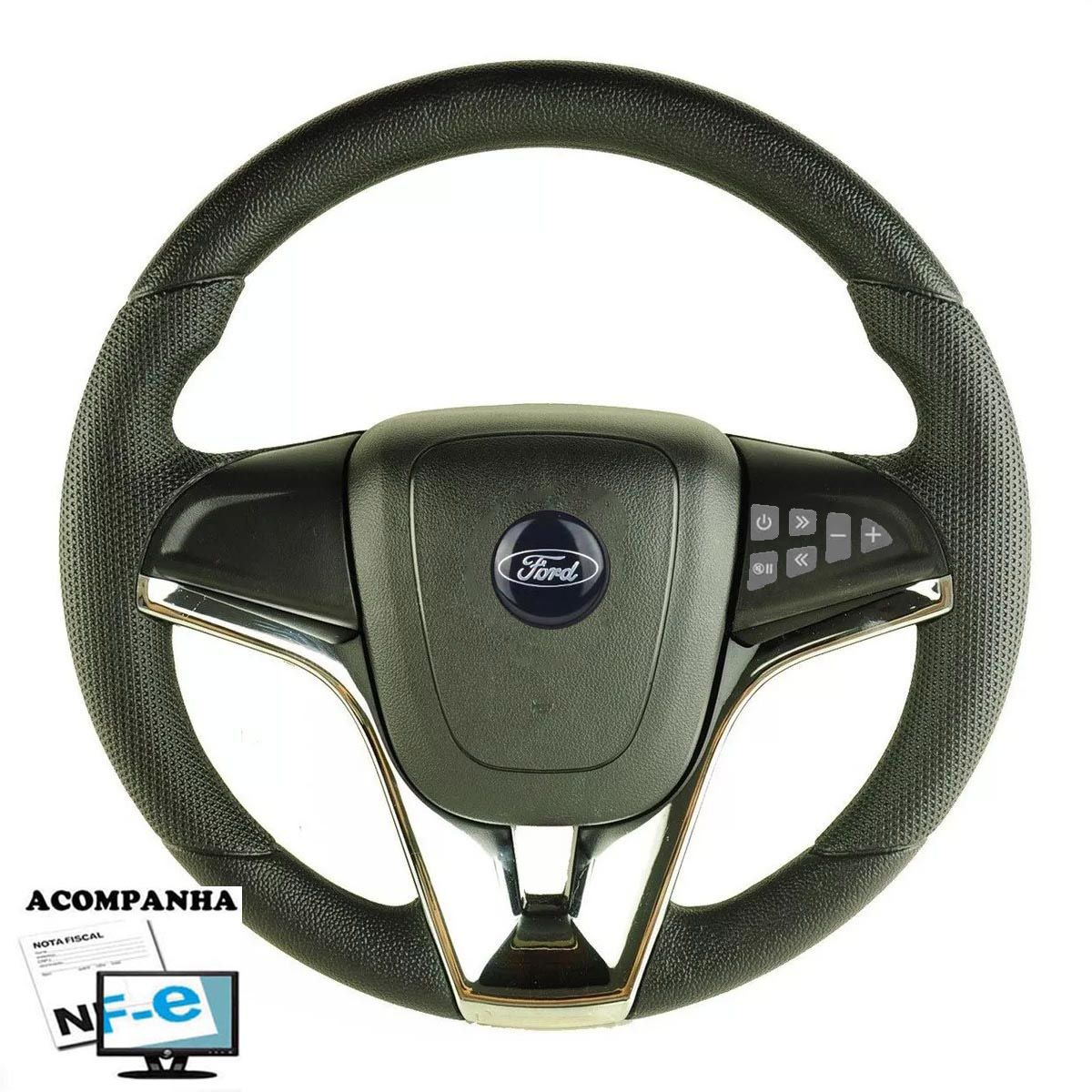 Volante Multifuncional Ford Cruze Pelicula Esportivo Cubo Atacado Poliparts