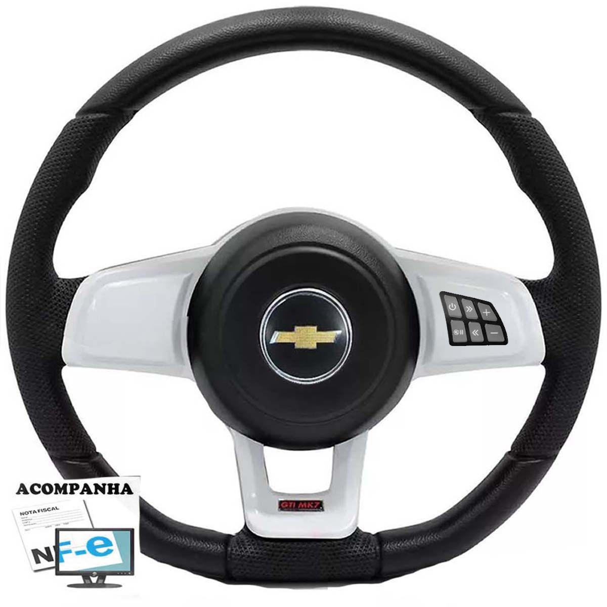 Volante Multifuncional Golf Gti Mk7 Corsa Celta Astra Monza Chevette S10 Blazer Silverado Meriva Zafira Omega Kadett Opala Chevrolet + Cubo Gm