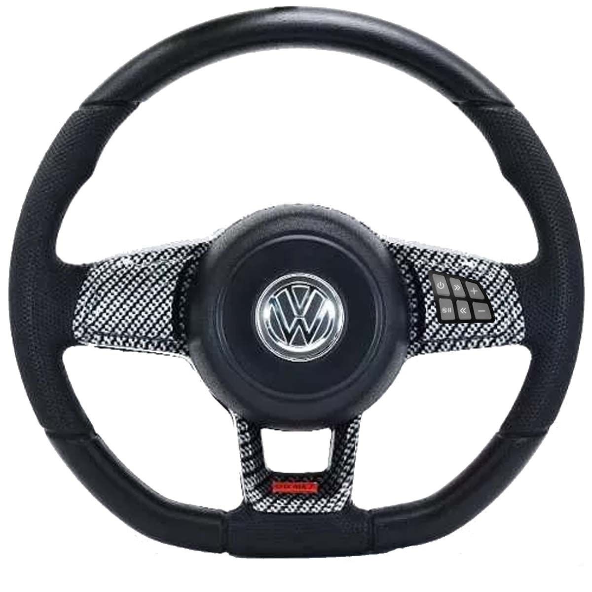 Volante Multifuncional Golf GTI Mk7 Gol Parati Saveiro Voyagen G1 G2 G3 G4 G5 Golf Fusca Brasilia Polo Kombi Santana Passat Volkswagen + Cubo Vw