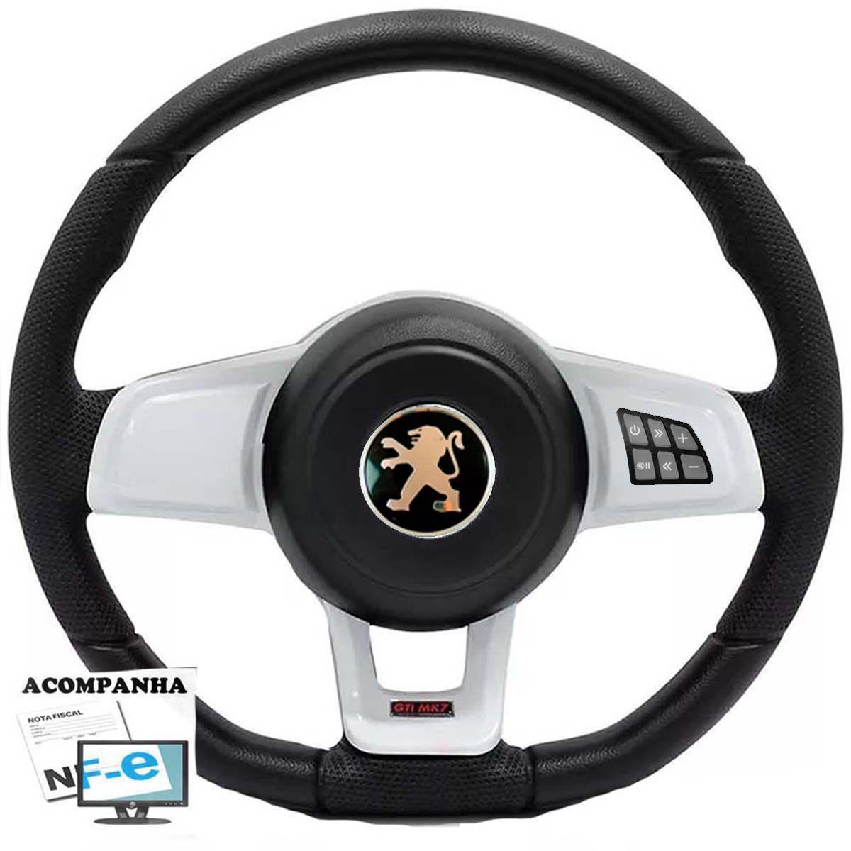 Volante Multifuncional Golf GTI Mk7 Peugeot 106 206 306 Sw Tampa Acionador de Buzina + Cubo
