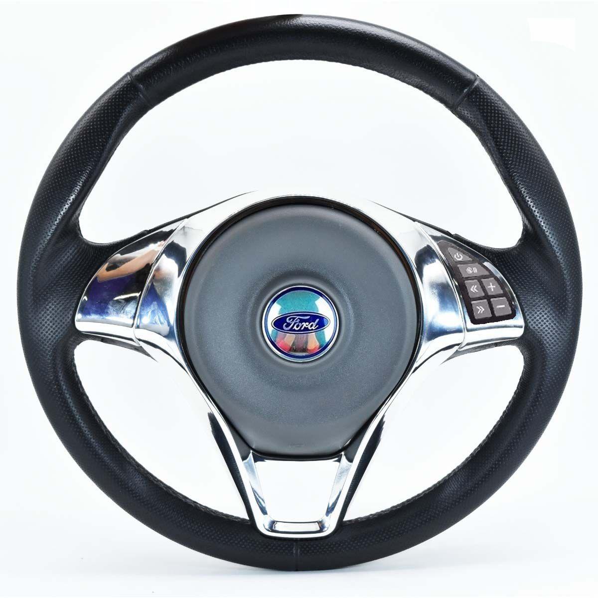 Volante Multifuncional Palio Sporting Ford Ka Fiesta Escort Zetec Hobby Pampa F100 F1000 F75 F250 Verona Del Rey Belina Ecosport Logus Acionador de Buzia + Cubo