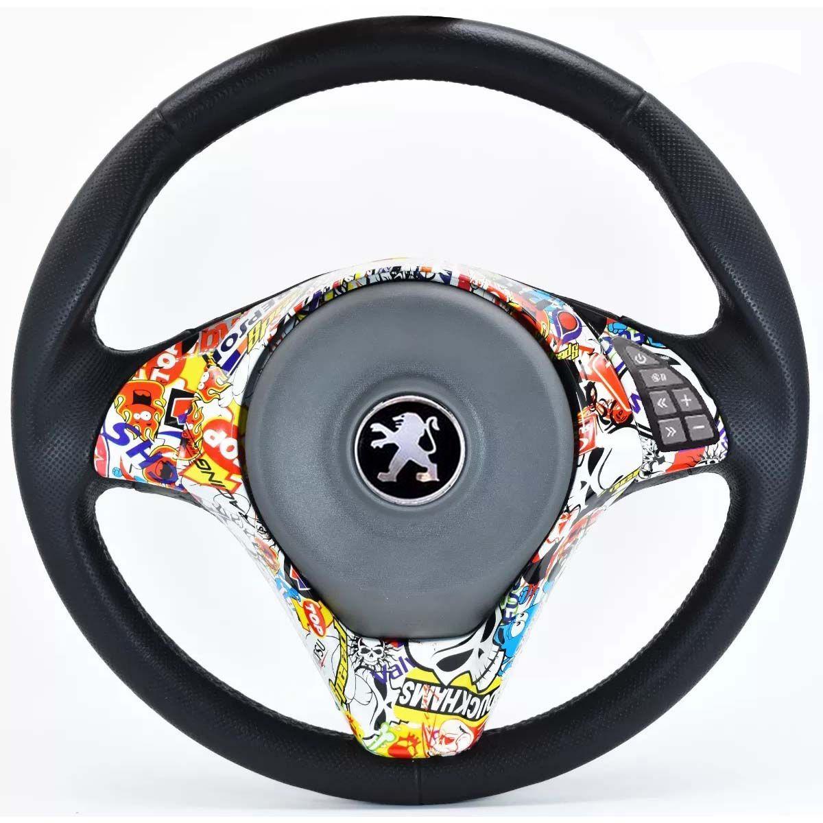 Volante Multifuncional Palio Sporting Peugeot 106 206 207 306 Sw Acionador de Buzina + Cubo