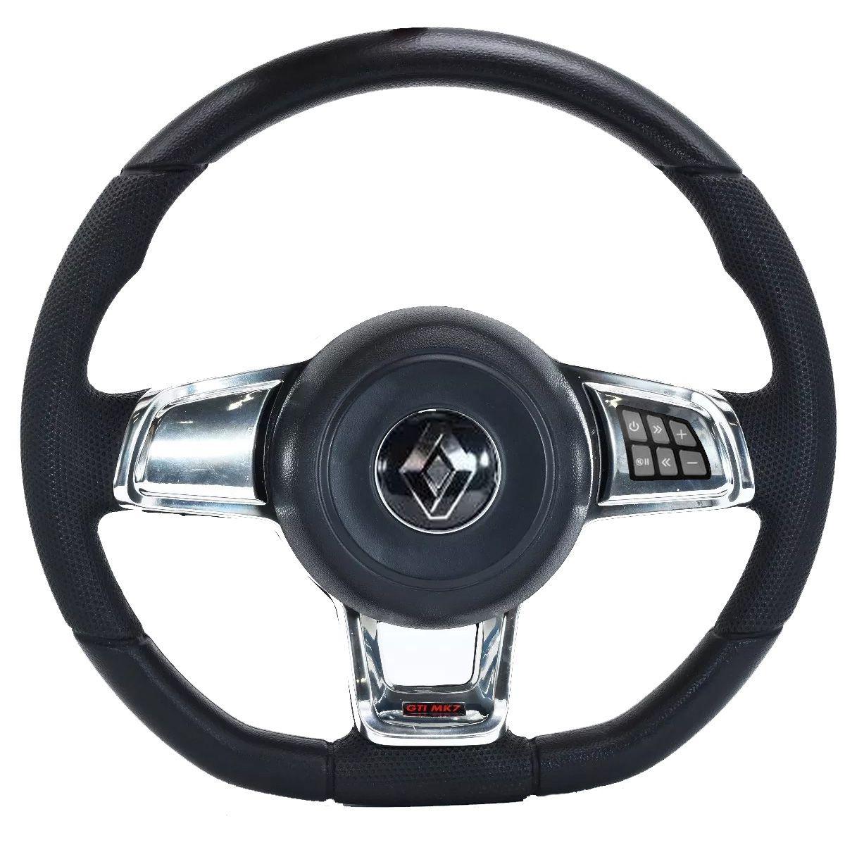 Volante Multifuncional Renault Mk7 Esportivo Cubo Sandero Clio Logan Megane Scenic Poliparts