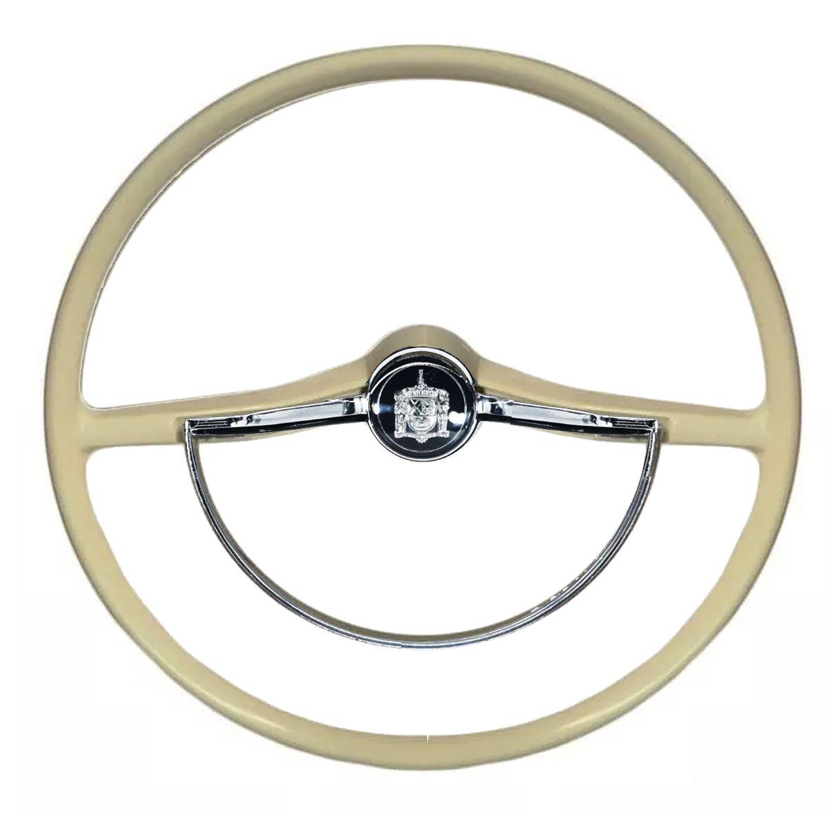 Volante para Fusca Itamar Fafa Cálice 59 até 96 Brasilia Variant Modelo Original Novo Reliquia Marfim ou Preto Volkswagen Vw