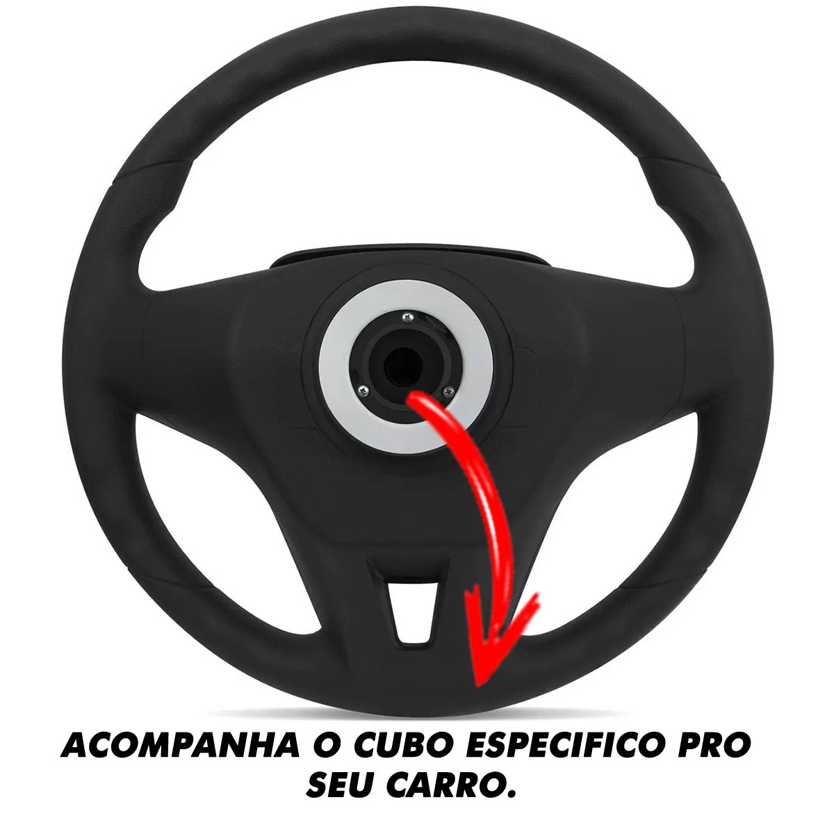 Volante Peugeot Cruze Esportivo Cubo Atacado Poliparts