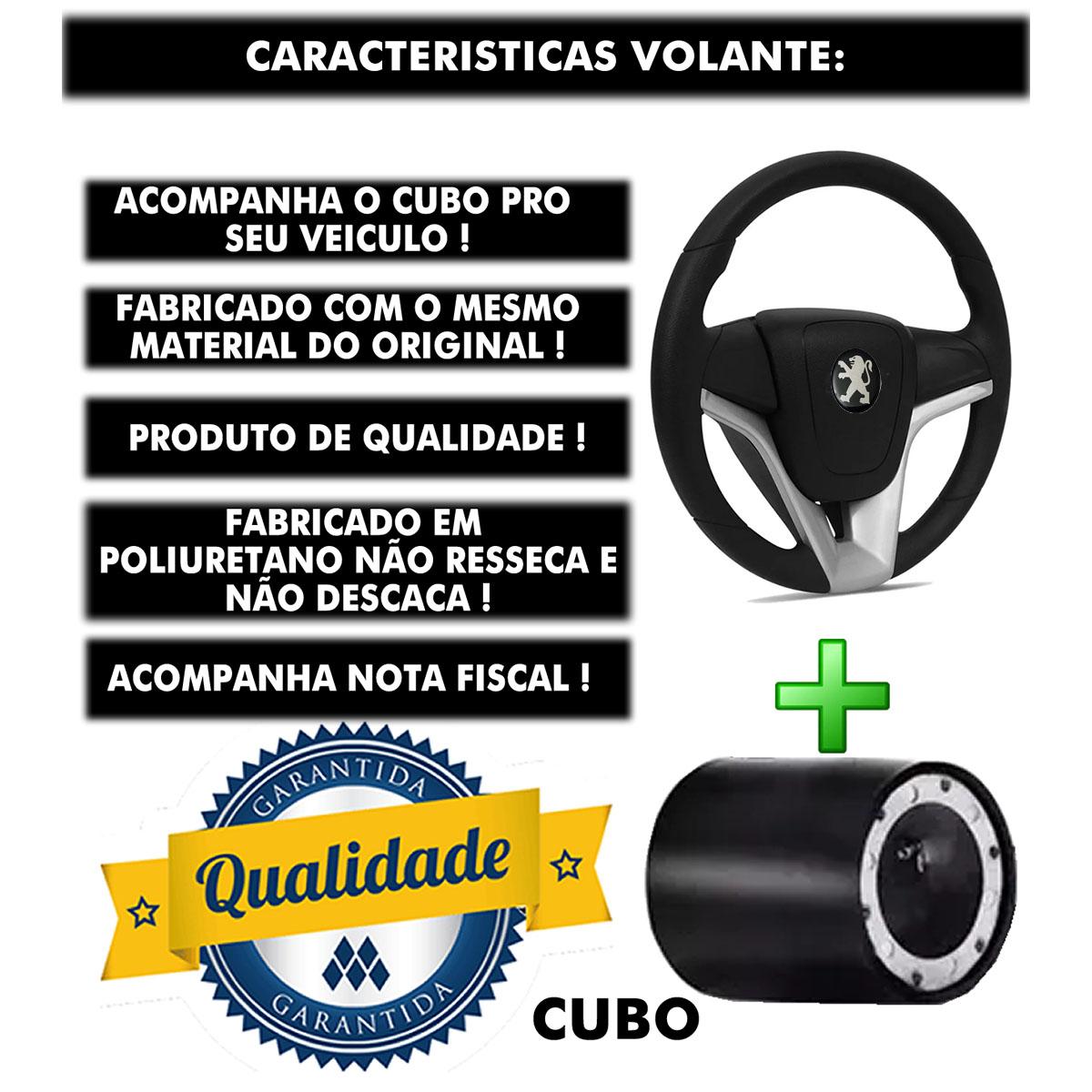 Volante Peugeot Mustang Esportivo Cubo Atacado Poliparts