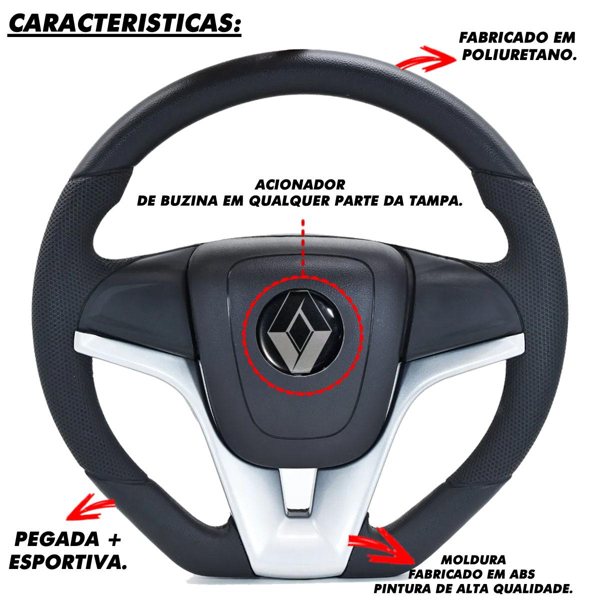 Volante Renault Camaro Esportivo Cubo Poliparts