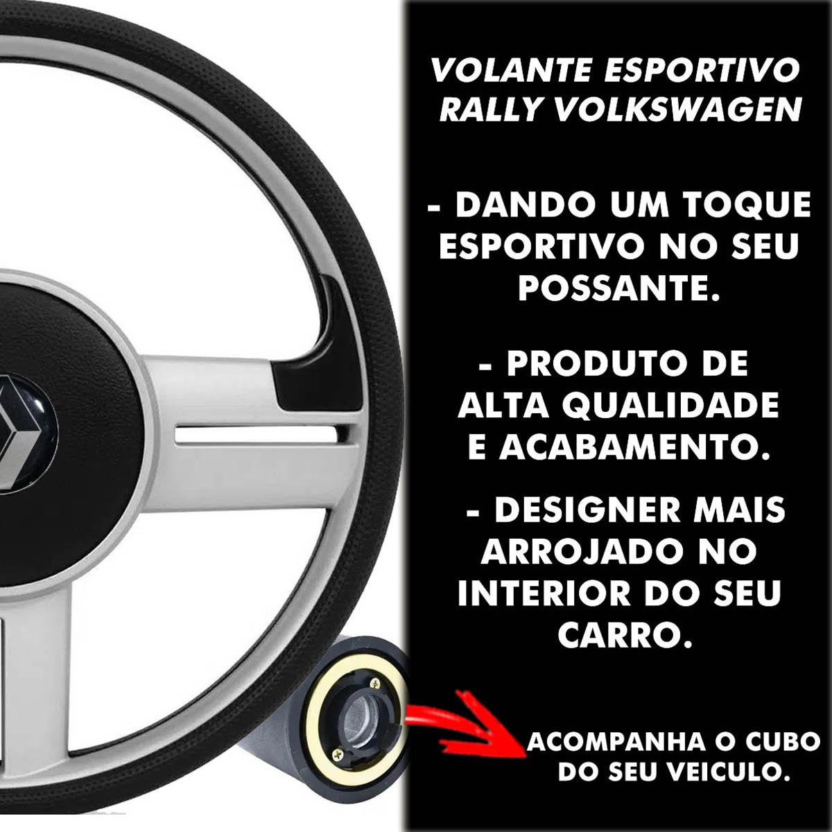 Volante Renault Surf Rallye Esportivo Cubo Atacado Poliparts