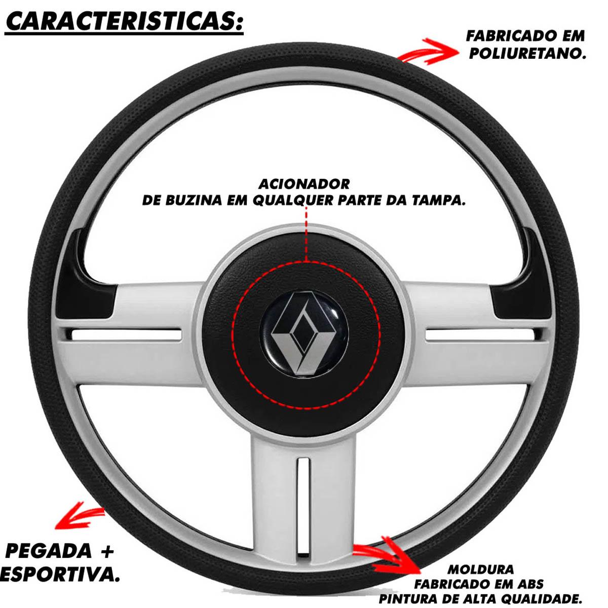 Volante Renault Surf Rallye Esportivo Cubo Sandero Clio Logan Megane Senic Poliparts