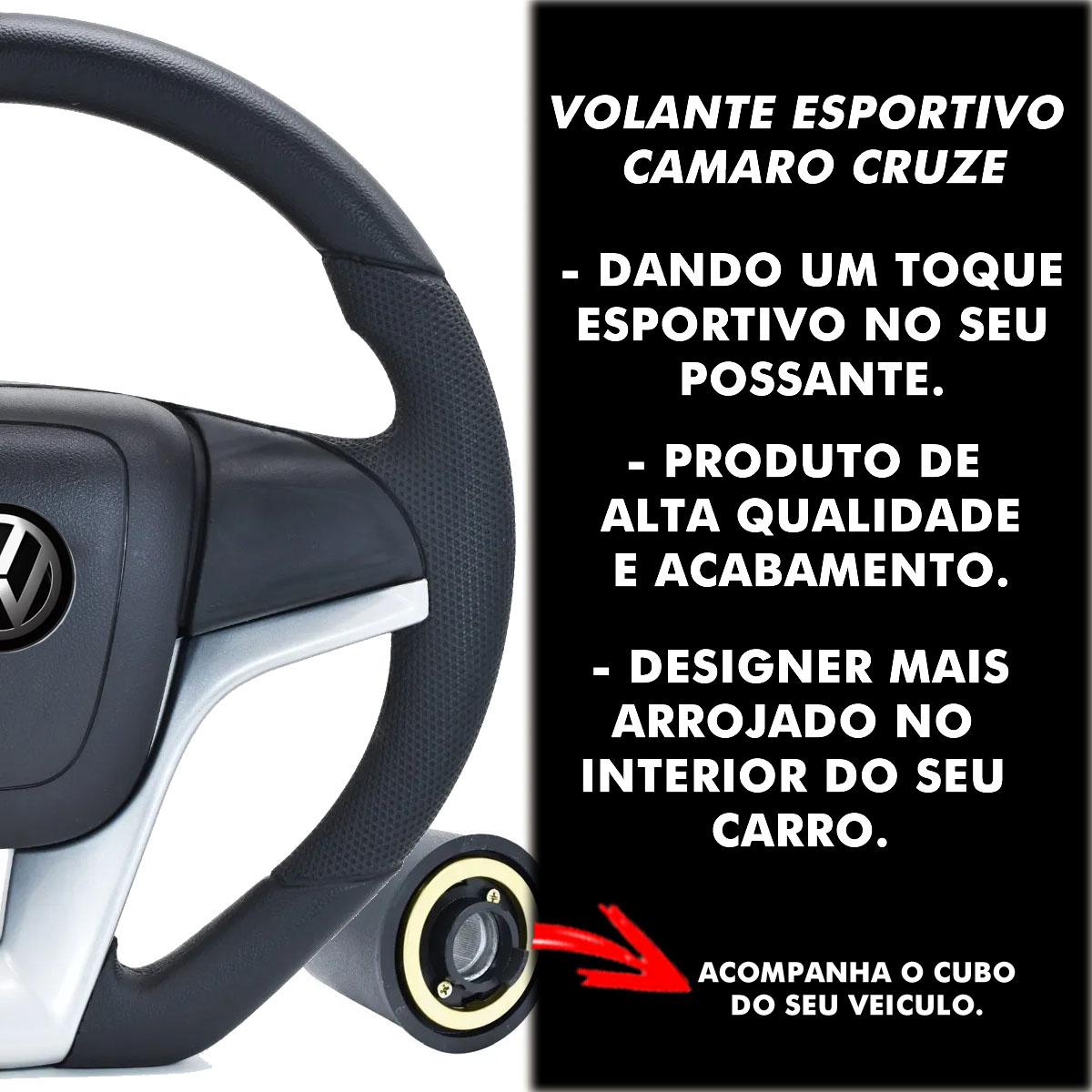 Volante Volkswagen Camaro Esportivo Cubo Gol Quadrado 1980 a 1996 G2 G3 G4 G5 G6 1994 a 2013 Poliparts