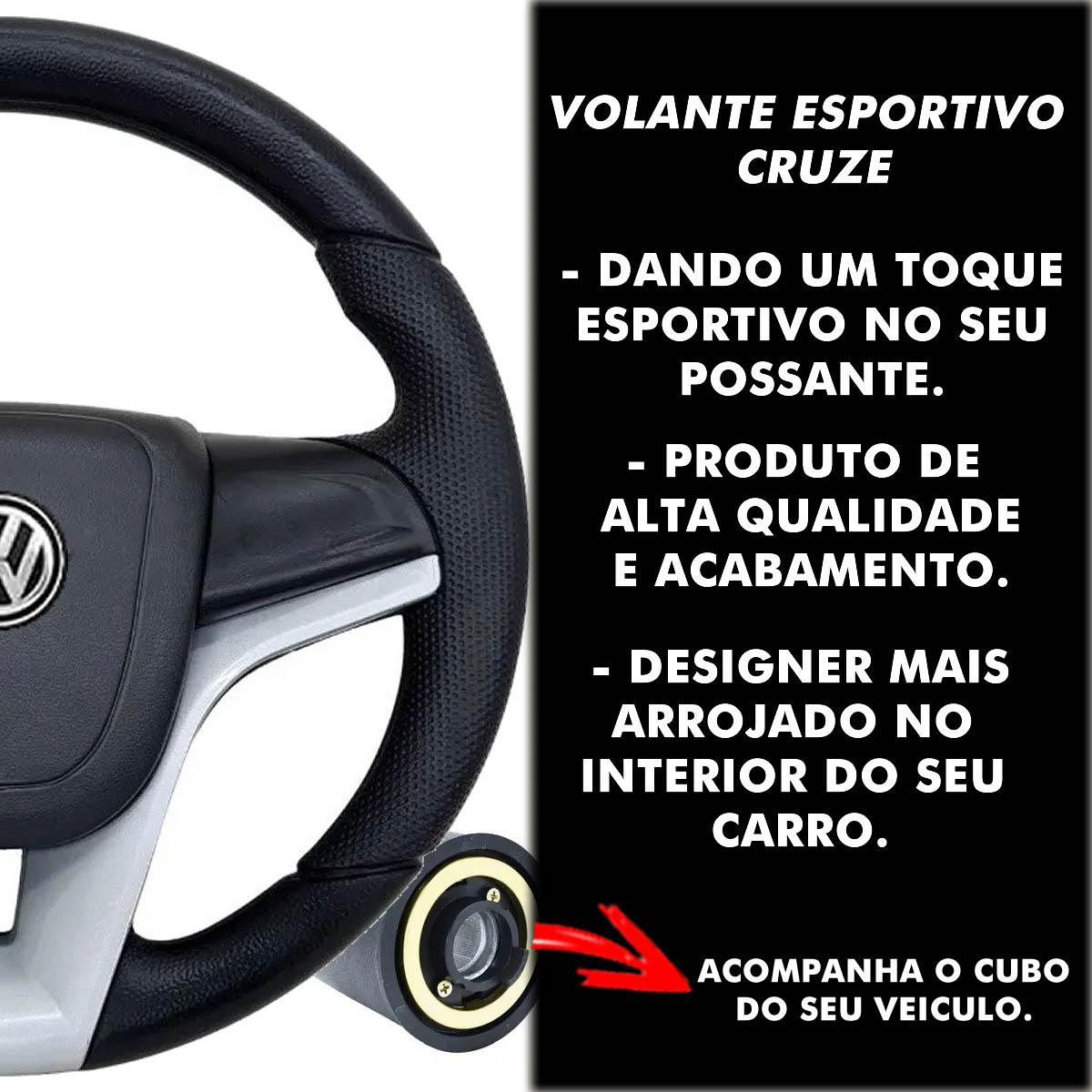 Volante Volkswagen de Cruze Esportivo Cubo Golf Parati Saveiro Polo Fox Passat Bora Fusca Kombi Poliparts