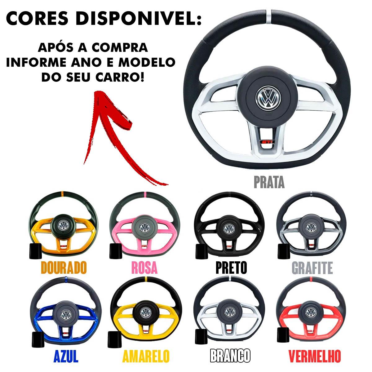 Volante Volkswagen Gti Esportivo Cubo Fusca Brasilia Poliparts