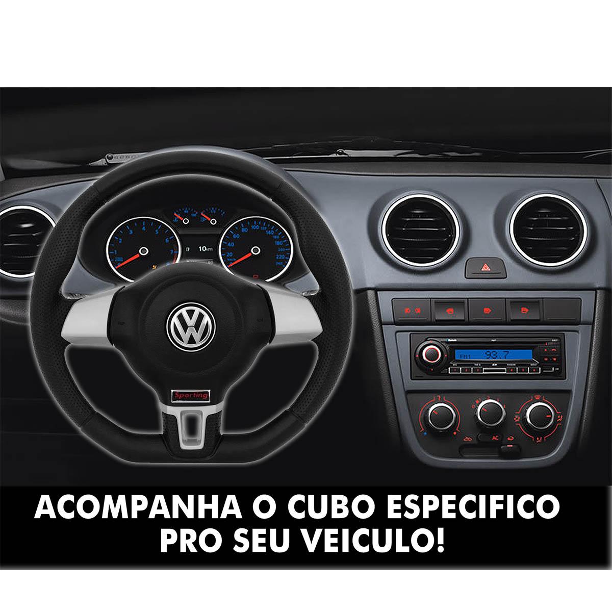 Volante Volkswagen Jetta Base Reta Esportivo Cubo do Fox Bora Polo 1999 a 2013 Voyage Santana 1976 a 2013 Poliparts