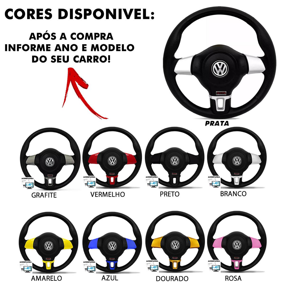 Volante Volkswagen Jetta Redondo Esportivo Cubo Gol 1980 a 2013 Golf 1999 a 2013 Saveiro Parati 1982 a 2013 Poliparts
