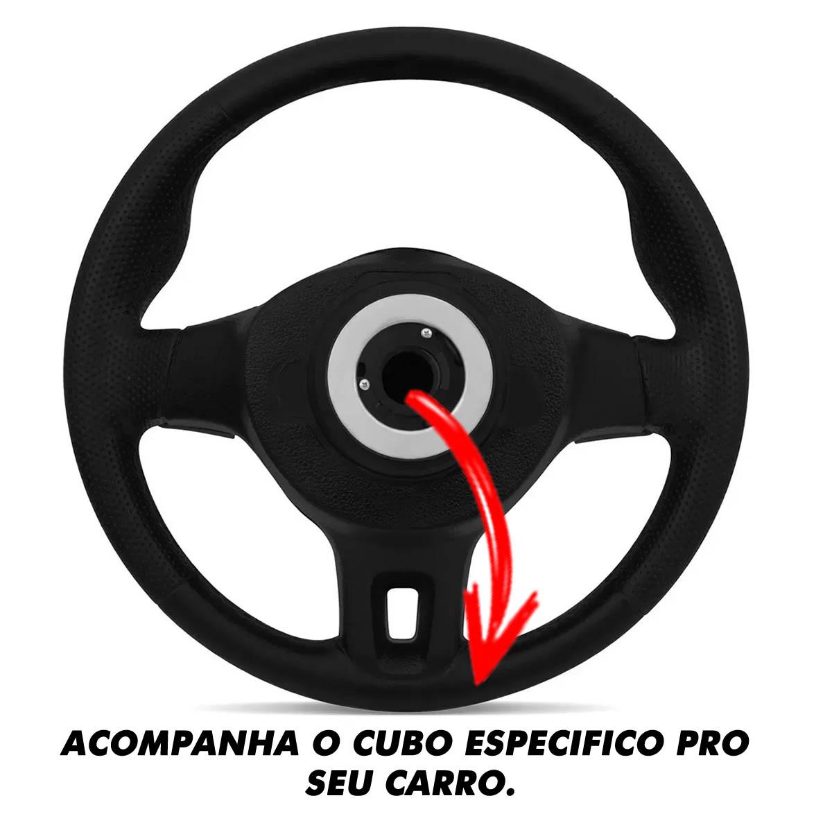 Volante Volkswagen Jetta Redondo Esportivo Cubo Voyage 1980 a 2013 Fox Bora Polo 1999 a 2013 Santana 1976 a 2013 Poliparts