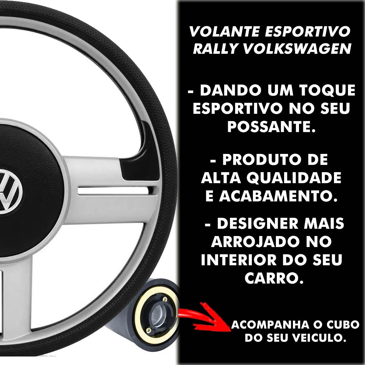 Volante Volkswagen Surf Rallye Esportivo Cubo Fox Bora Polo 1999 a 2013 Voyage Santana 1976 a 2013 Poliparts