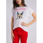 Camiseta Cachorro Oculos Branco