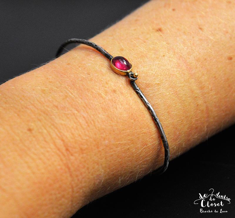 Bracelete Guerreiro em Turmalina Rosa