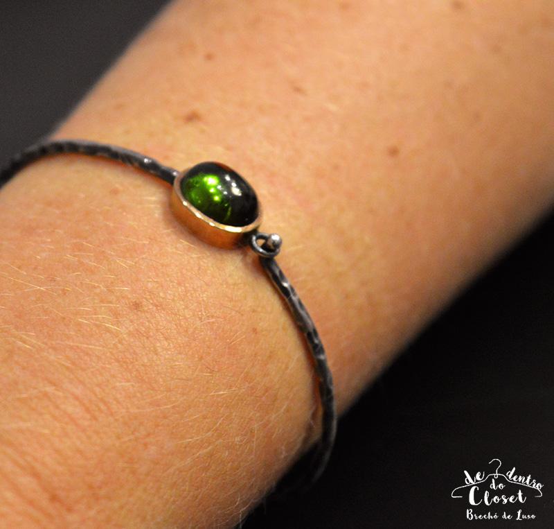 Bracelete Guerreiro em Turmalina Verde