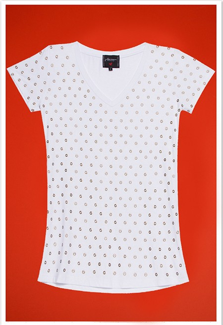 Camiseta Ilhós Branco