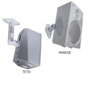 3 Pares de Suporte de Teto/Parede SPHT41 para Caixas Acústicas/Som de Home Theater - Multivisão