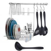 Combo Cook Home 8 + Concha, Colher, Espátula e Colher Perfurada de Silicone