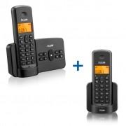 Combo Elgin Telefone Sem Fio TSF 800 SE Secretária Eletrônica + Ramal Sem Fio TSF 8000 R Identificador Chamadas Viva Voz Detc 6.0