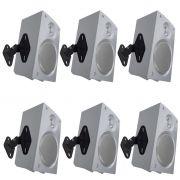 Kit 3 Pares de Suporte de Teto/Parede SPHT41 para Caixas Acústicas/Som de Home Theater  - Multivisão