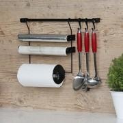 Kit A Linha Requinte Master Cozinha Suspensa Porta Rolos Ganchos - Metaltru