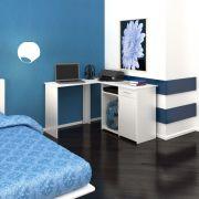 Mesa em L para Computador/Multiuso c/ 1 Gaveta c/ 1 Porta Kit Union Muitivisão