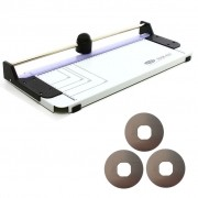 Refiladora de Papel A3 RPM 420 Corte 450mm Corta Até 4 Folhas Simultâneas + Kit 3 Navalhas - Menno