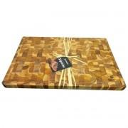 Tábua de Carne Grande Churrasco/Multiuso Madeira Teca Invertida 58,5x38 cm - Stolf