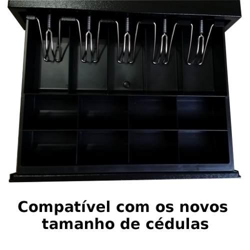 Gaveta de Dinheiro Automática p/ Caixa ou PDV Menno MG 40 Preta