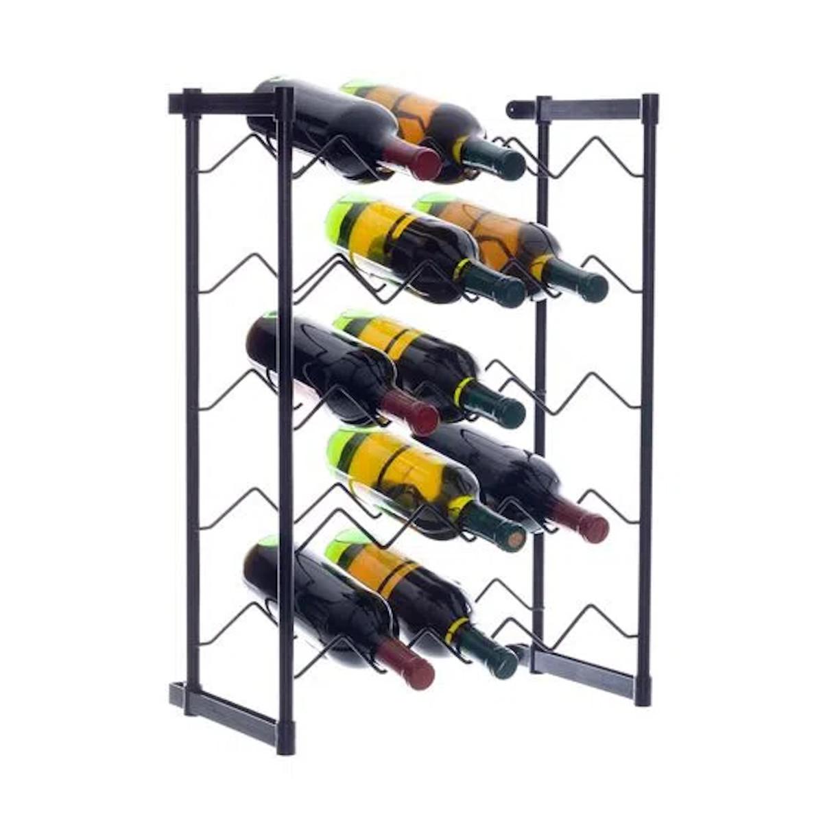 Adega de Vinho de Chão Rack Porta Até 20 Garrafas - Metaltru