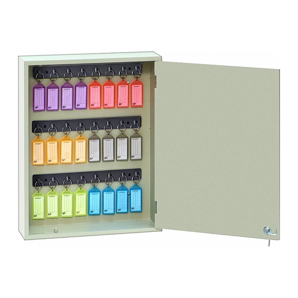 Armário/Claviculário em MDF p/ 24 Chaves c/ Chaveiros Coloridos Acrimet