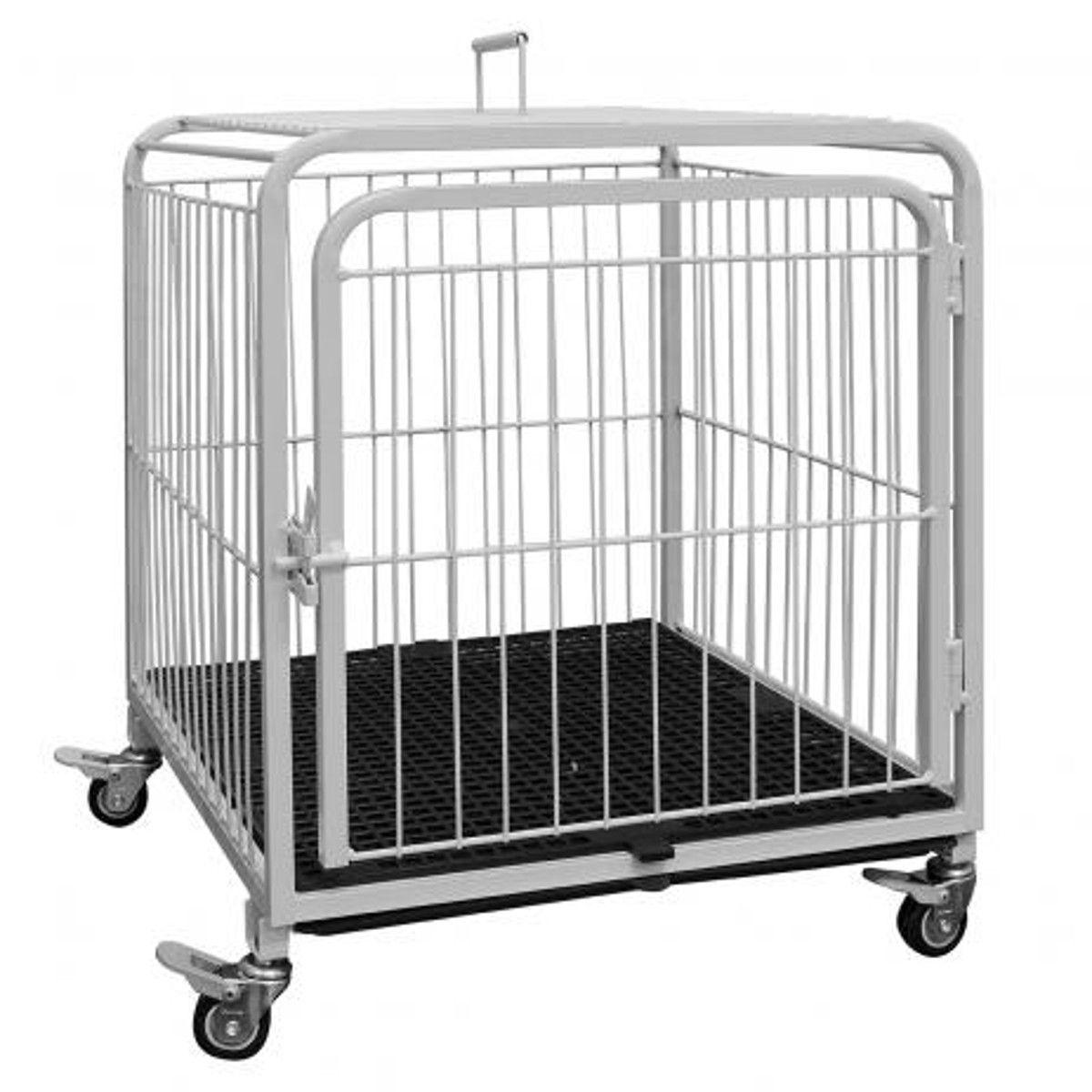 Canil/Gatil Gaiola Pet c/ Alça de Transporte e Rodinhas Petmix - Açomix