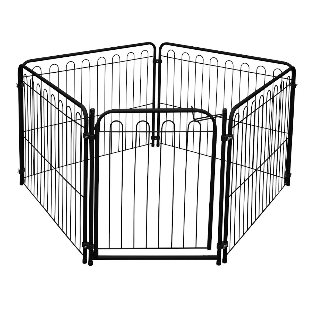 Cercado Pet 4 Modulos Delimitadores + Portão p/ Cães Pequenos/Médios -  Açomix