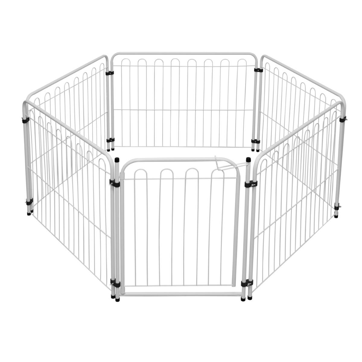 Cercado Pet 5 Modulos Delimitadores + Portão p/ Cães Pequenos/Médios -  Açomix