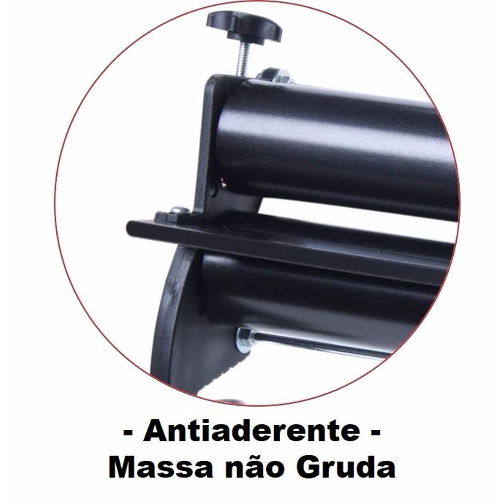 Cilindro Manual de Massa Mega Doro 45cm Antiaderente c/ Engrenagem de Alumínio - Malta