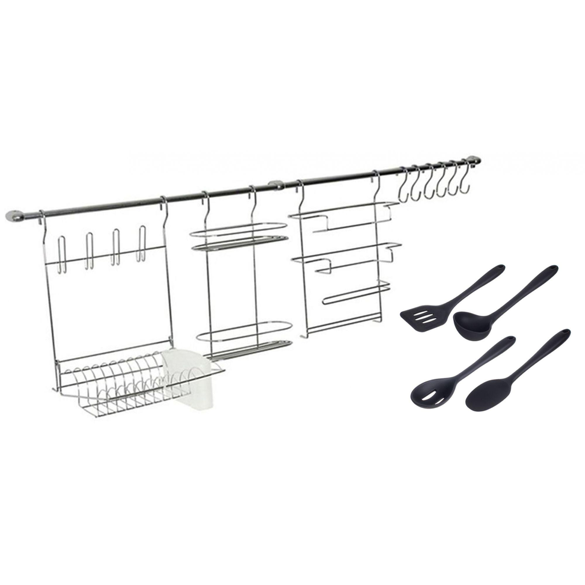 Combo Cook Home 1 + Concha, Colher, Espátula e Colher Perfurada de Silicone